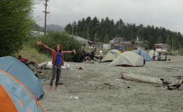 Ahousaht beach camping